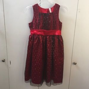 Red Sparkle Holiday Dress (Girls' 12)